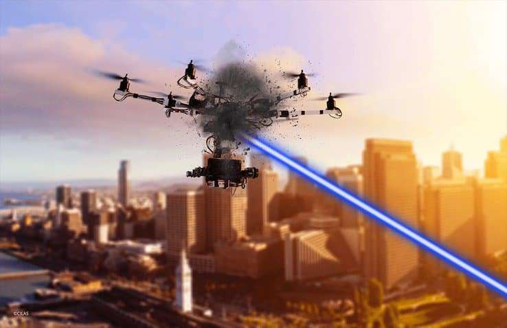 Laser drone